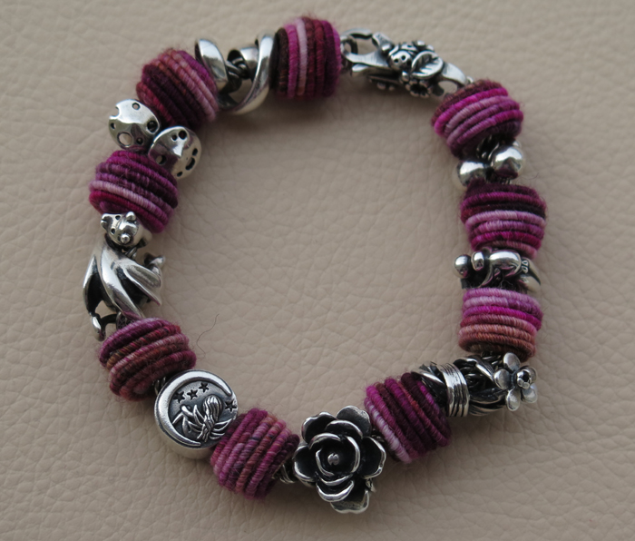 Fiber beads bracelet Img_1847
