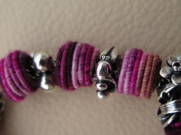 Fiber beads bracelet Img_1849